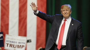 Republican frontrunner Donald Trump.
