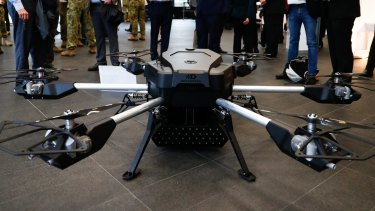 DefendTex's Tempest drone can carry 80 rocket-propelled grenades or the same number of miniature drones.