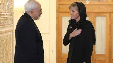 Foreign Affairs minister Julie Bishop meets with the Islamic Republic of Iran Foreign Affairs minister Dr Mohammad Javad Zarif.