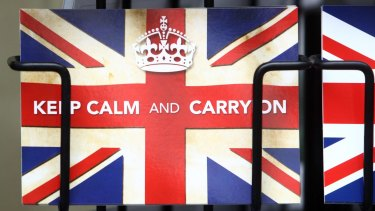 'Keep Calm and Carry On' has been replaced.