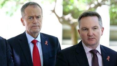 Opposition Leader Bill Shorten and shadow treasurer Chris Bowen.