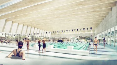 The $84 million new aquatic centre will be completed by early 2020.