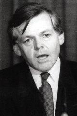 Former federal treasurer John Dawkins at the National Press Club in 1993.