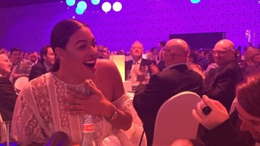 Liz Cambage at the Million Dollar Lunch.
