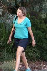 Health Minister Sussan Ley arrives at Parliament House in Canberra on Monday.