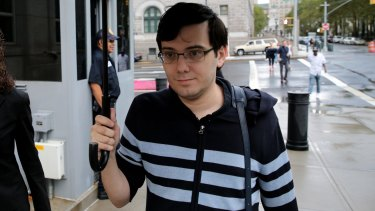 Martin Shkreli, former chief executive officer of Turing Pharmaceuticals, arrives at federal court in New York on Friday.