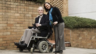Raymond Saich (left) who is the president of the Australian Pompe Association and Lama Al-Akhras, a fellow sufferer of Pompes.