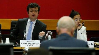 Senator Sam Dastyari questions Greg Hywood at the inquiry.