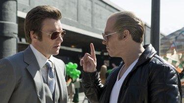 Joel Edgerton plays corrupt FBI agent John Connolly to Johnny Depp's gangster in <i>Black Mass</i>.