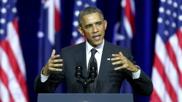 US President Barack Obama during his Brisbane speech last weekend.