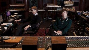 The duo in the recording studio.