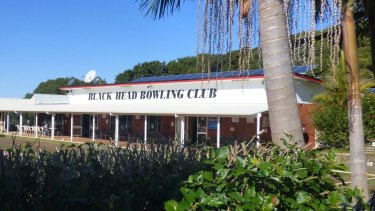A three-year-old girl died when a monument at the Black Head Bowling Club crushed her.