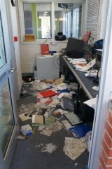Damage caused during rioting at Banksia Hill Detention Centre in January.