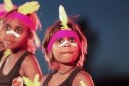Indigenous performances celebrate the closure of the Uluru climb.