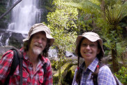 John Chapman and his wife and co-author Monica Chapman at Erskine Falls.