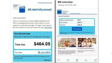 Real or fake? Email from energy provider AGL.