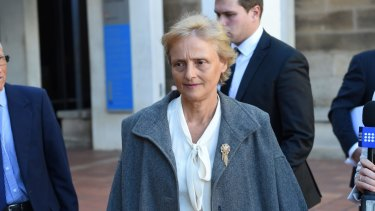 Naturopath Marilyn Bodnar leaves Campbelltown Local Court.