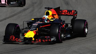 Force out: Daniel Ricciardo on track during the Formula One Grand Prix in Sochi, Russia.