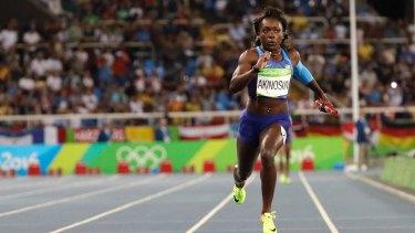 Running against the clock: Morolake Akinosun.