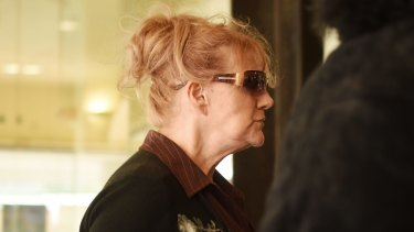 Renee Geyer arrives at Downing Centre courts for sentencing on Friday.