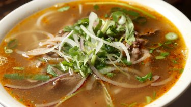CoDo's sliced rare beef with chilli beef soup
