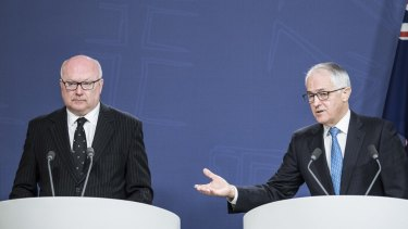 Prime Minister Malcolm Turnbull and Attorney-General George Brandis.