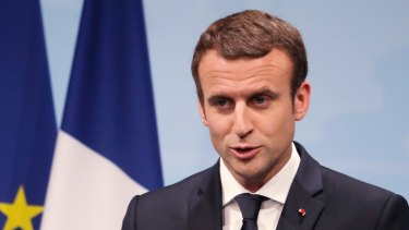 France's President Emmanuel Macron: his campaign was targeted by Russian hackers.