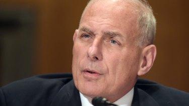 Soon to be chief of staff: Homeland Security Secretary John F. Kelly