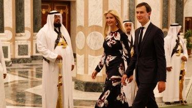 Ivanka Trump and husband Jared Kushner, both White House advisers, at the Royal Court Palace in Riyadh, Saudi Arabia during US President Donald Trump's visit.
