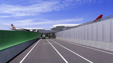 New Dryandra Road underpass to be built at Brisbane Airport in 2017 near the Domestic Terminal