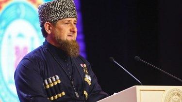 Chechen regional leader Ramzan Kadyrov.