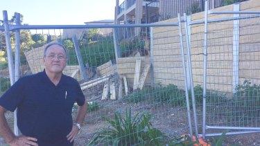 Retaining walls near Palm Beach.