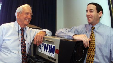 Bruce Gordon (left) and his son Andrew Gordon run regional broadcaster WIN Television and own a 14.96 per cent stake in Network Ten.