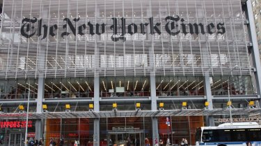 The New York Times office in ... New York.