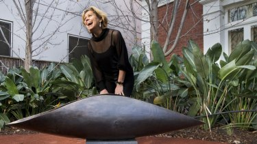 Robyne Latham's sculpture stands in front of the Darebin City Council in Preston: The artist has praised the council's support of the Aboriginal community.