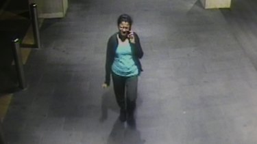 Prabha Kumar talks to her husband as she walks home from Parramatta station, moments before she was killed.