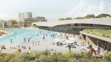 An artist's impression of the Gunyama Park Aquatic and Recreation Centre.