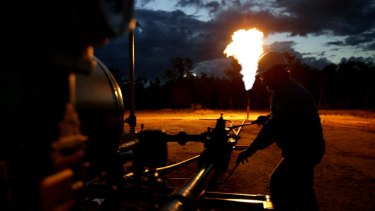 The industry says just 0.02 per cent of the gas developed vents as methane to the atmosphere.