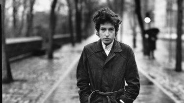 Bob Dylan in New York's Central Park in 1965.