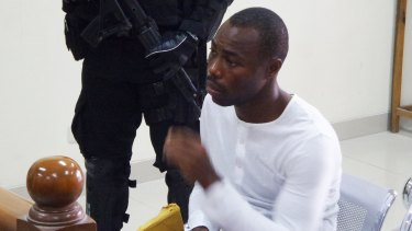 Michael Titus Igweh, who is facing execution in Indonesia within days, tells a court that police electrocuted his genitals to extract a confession.