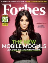 Kim Kardashian's wealth has seen her grace the cover of <i>Forbes</i> magazine.