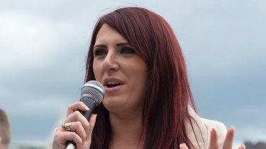 Jayda Fransen, acting leader of far-right group Britain First.