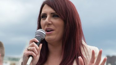 Jayda Fransen, deputy leader of Britain First, was jubilant after Trump retweeted three unverified videos that she posted on Twitter.