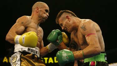 Danny Green v Anthony Mundine in 2006: Mundine defeated Green in a points decision.