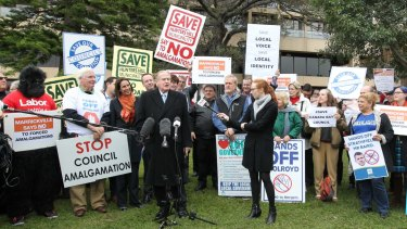 The Save our Councils protest at NSW Parliament House.