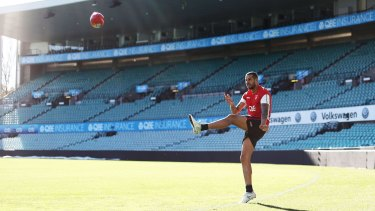 Recent villain: Lance Franklin is otherwise an accomplished long-range kicker.