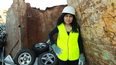 Professor Sahajwalla's tyre recycling process has already saved more than two million tyres from landfill.