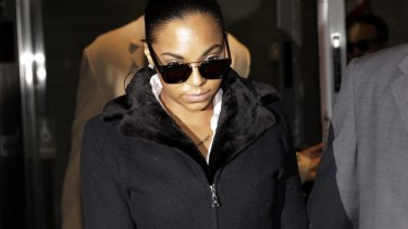 Ashanti leaving the court room on Tuesday.