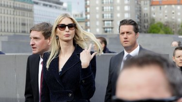 Ivanka Trump on a trip overseas.