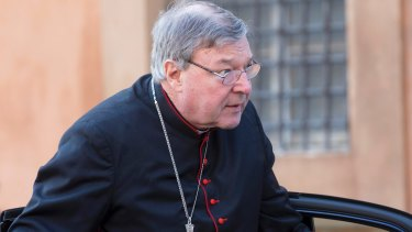 Brief of evidence returned to prosecutor: Cardinal George Pell at the Vatican in 2014.